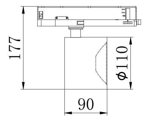 30W LED track lighting drawing